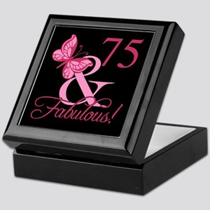 Fabulous 75th Birthday Keepsake Box