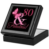 80th birthday Square Keepsake Boxes