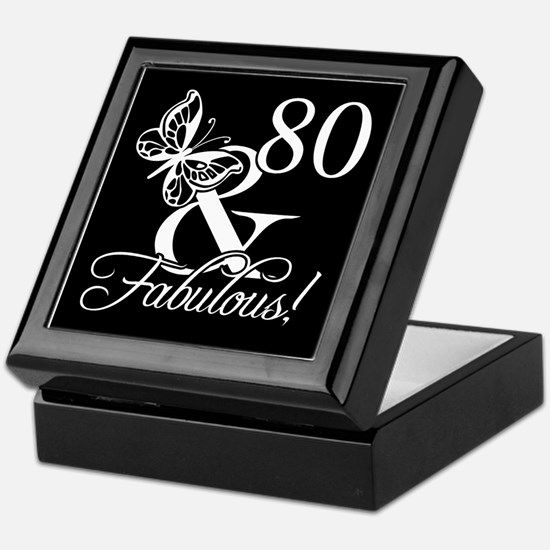 Fabulous 80th Birthday Keepsake Box