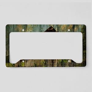 wood grain old barn License Plate Holder