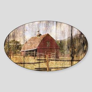 western country red barn Sticker