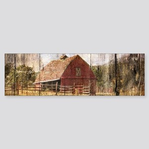 western country red barn Bumper Sticker