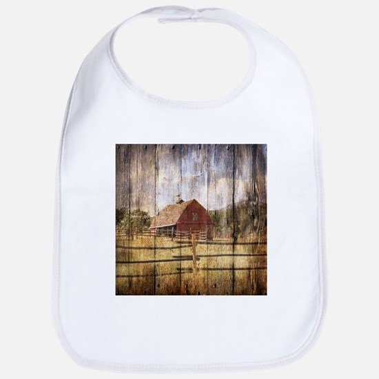 western country red barn Bib