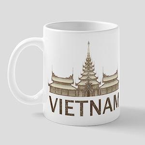 Vintage Vietnam Temple Mug