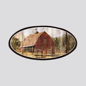 western country red barn Patch