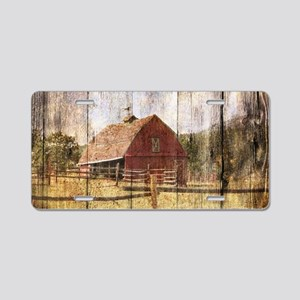 western country red barn Aluminum License Plate