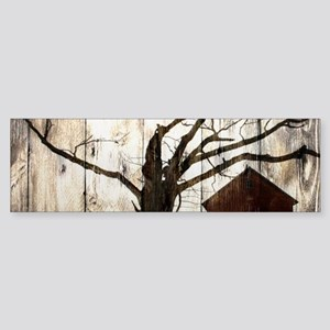 rural landscape old barn Bumper Sticker