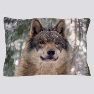 Wolf in Woods Pillow Case