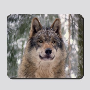 Wolf in Woods Mousepad