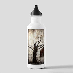 rural landscape old ba Stainless Water Bottle 1.0L