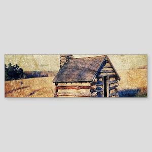 rustic farm vintage cabin Bumper Sticker