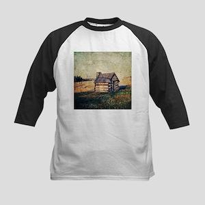 rustic farm vintage cabin Baseball Jersey