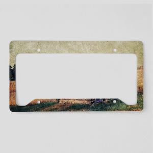 rustic farm vintage cabin License Plate Holder