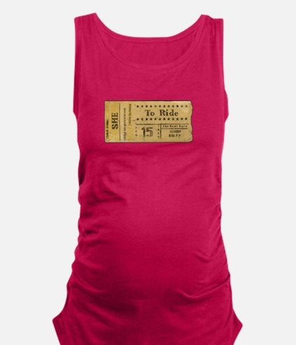 Ticket To Ride Maternity Tank Top