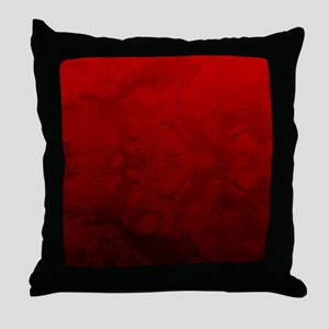 Red Satin Design Throw Pillow