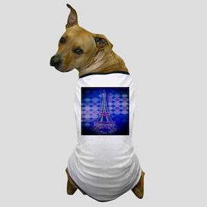 modern circles eiffel tower Dog T-Shirt