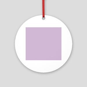 Solid Lavender Round Ornament