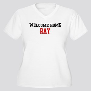 Welcome home RAY Women's Plus Size V-Neck T-Shirt