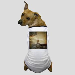 shabby chic paris eiffel tower Dog T-Shirt