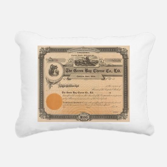 Green Bay Cheese Company Rectangular Canvas Pillow