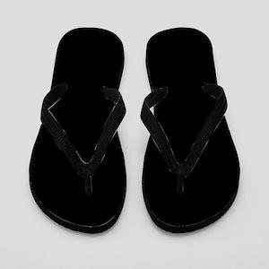 Solid Black Flip Flops