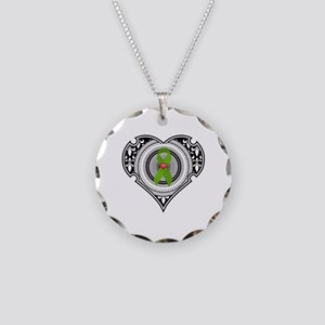 Kidney heart Necklace Circle Charm