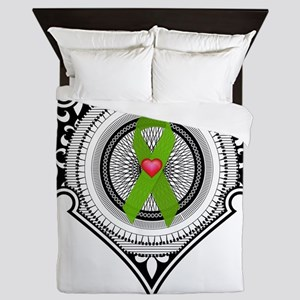 Kidney heart Queen Duvet