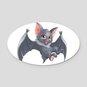 bat Oval Car Magnet