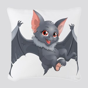 bat Woven Throw Pillow