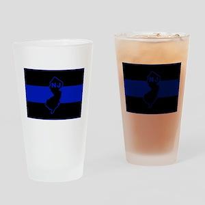 PoliceFlagNJ Drinking Glass
