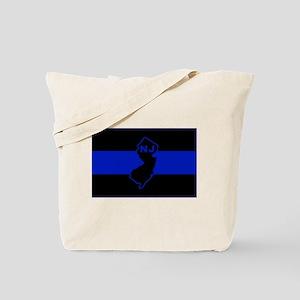 PoliceFlagNJ Tote Bag