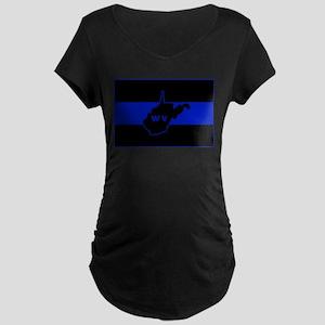 Thin Blue Line - West Virginia Maternity T-Shirt