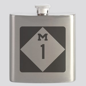 Woodward Avenue Route Shield - M1 Flask