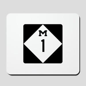 Woodward Avenue Route Shield - M1 Mousepad