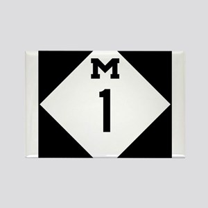 Woodward Avenue Route Shield - M1 Magnets