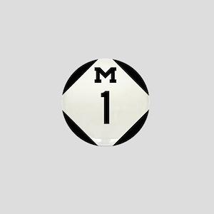 Woodward Avenue Route Shield - M1 Mini Button