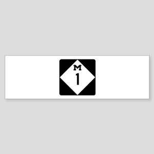 Woodward Avenue Route Shield - M1 Bumper Sticker