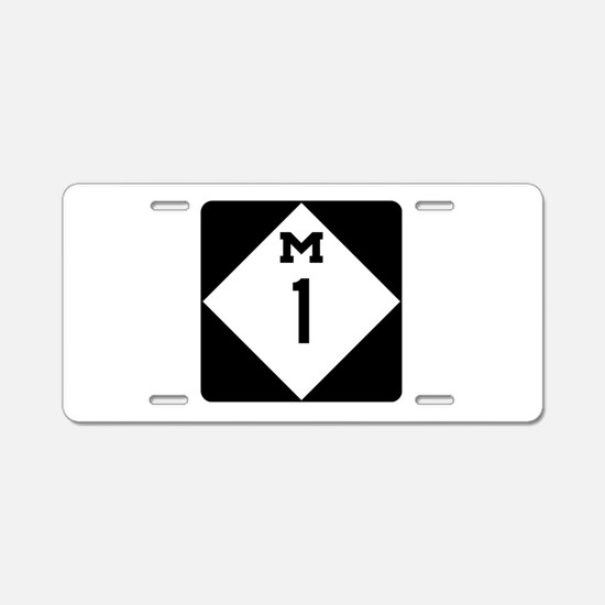 Woodward Avenue Route Shiel Aluminum License Plate