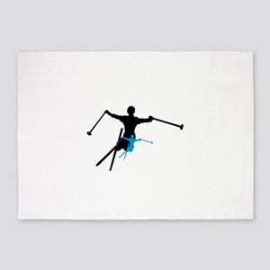 shadowstance skier 5'x7'Area Rug
