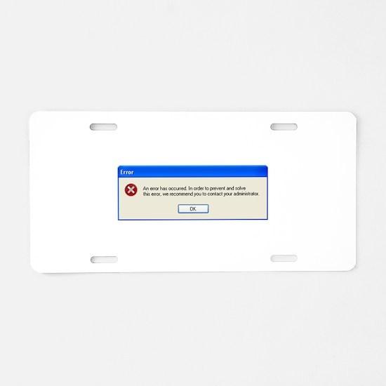 Windows ERROR Aluminum License Plate