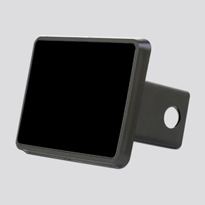 Solid Black Rectangular Hitch Cover