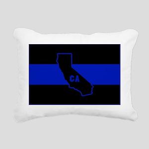 Thin Blue Line - Califor Rectangular Canvas Pillow