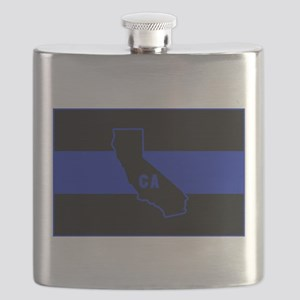 Thin Blue Line - California Flask