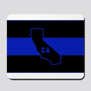Thin Blue Line - California Mousepad