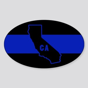 Thin Blue Line - California Sticker