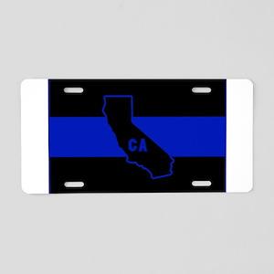 Thin Blue Line - California Aluminum License Plate