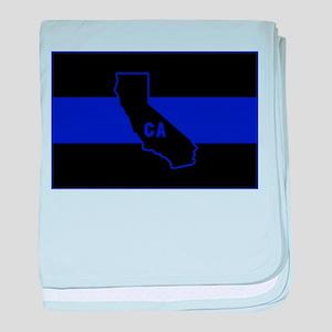 Thin Blue Line - California baby blanket