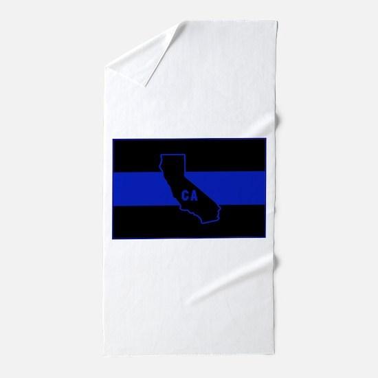 Thin Blue Line - California Beach Towel