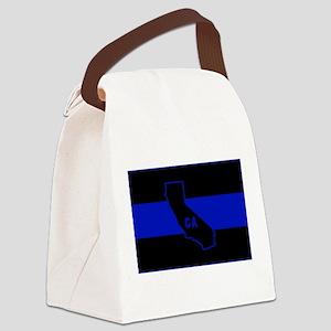 Thin Blue Line - California Canvas Lunch Bag