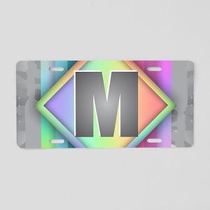Rainbow Splash M Aluminum License Plate